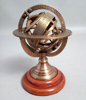 "5 "" Brass Tabletop Armillary Nautical Sphere Globes Antique Maritime Halloween"