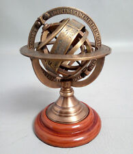 """8""""inch Brass Tabletop Armillary Nautical Sphere Globes Antique Maritime New gift"""
