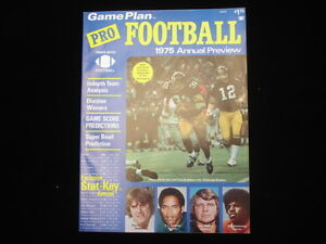 1975 Game Plan Pro Football Annual Preview EX-NM
