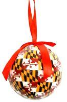 Maryland Flag Design Ball Christmas Tree Ornament