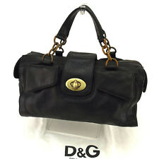 Dolce&Gabbana Handbag Black Gold Woman Authentic Used Y7618
