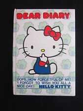 Hello Kitty Dear Diary 1976 rare Sanrio Japan