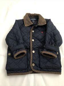 ralph lauren baby quilted coat