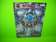 R Type II Arcade FLYER Irem Original 1986 Video Game Artwork Sheet Rare Japan