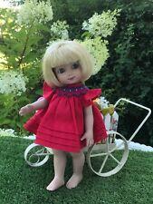 Boneka Red smocked Dress For Ann Estelle doll