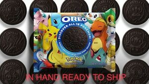 🆕 Oreo⚡️POKEMAN Themed Chocolate Sandwich Cookies, Limited Edition IN HAND! HTF