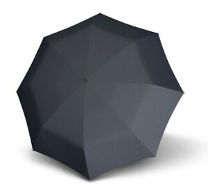 Knirps Fiber T3 Duomatic Gents Print Schirm Regenschirm Black Diamond Schwarz