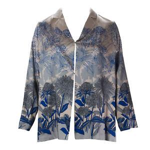 MARINA RINALDI Women's Pink/Blue Chance Floral Jacket $325 NWT