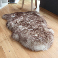 Soft Fluffy Sheepskin Rug (Wolf Tipped) - Real Shaggy Sheepskin - 1-8 Skin Rugs