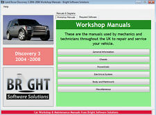Land Rover Discovery 3 * Servicio y Reparación Manual de Taller-actualizado 2016