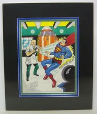 Original Art by SHELDON  SHELLY  MOLDOFF signed, SUPERMAN, matted Comic Art
