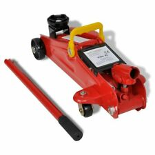 vidaXL Floor Jack Hydraulic Trolley Jack 2 Ton Red Car Van Vehicle Lifting