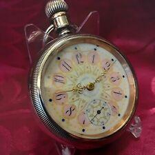 Pocket Watch 1899 Beautiful Case Antique Vintage Fancy Dial Large Waltham