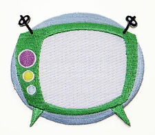 RETRO TV IRON ON PATCH Embroidered kitsch mid century atomic space 50s applique