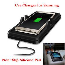 Voiture Qi Sans Fil Chargeur Dashboard Support Mount Silicone Non-slip Mat Pour Samsung