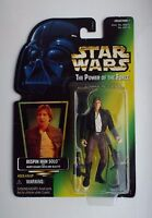STAR WARS POTF BESPIN HAN SOLO Gold foil U.S Green Card 1996 Kenner Collection 1