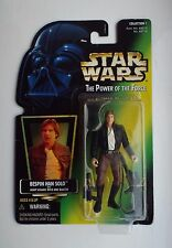 Star Wars POTF Bespin Han Solo feuille d'or U.S carte verte 1996 KENNER Collection 1