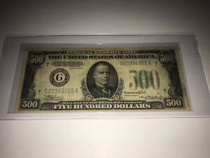 1934 $500 FIVE HUNDRED DOLLAR BILL