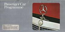 Mercedes Benz 200 220 240 230 250 280 350 SL SLC 600 SEL SE 1975-76 UK Brochure