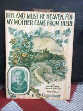 IRELAND MUST BE HEAVEN - 1916 Maurice Burkhart IRISH Print ART DECO