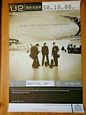 """40"""" x 60"""" U2 (Bono) - All That You Can't Leave Behind 2000 subway poster"""