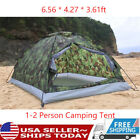 TOMSHOO Outdoor Hiking Tent Camouflage Two Person Portable Camping Tent USA B4Q6