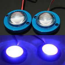 Car 2 LED Strobe Bulb Light Warning Emergency Flash DC 12V Controller Blue