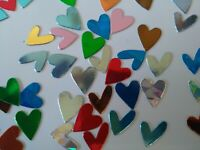 70 x 7cm Brightly Coloured Diecut Hearts Card Making//Scrapbooking