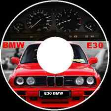 BMW E30 316 318 320 325 E30 3 Series Repair Workshop Manual cdrom 1983-1990