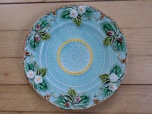1870 French Majolica Sarreguemines Strawberry plate