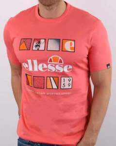 Ellesse Souscri T Shirt Coral