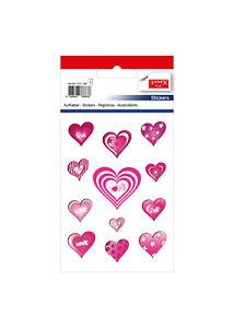 TANEX Kids STC-190 LOVE Herzchen Aufkleber pink, 24 Stück