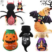 Halloween Pet Dog Cat Supplies Witch Spider Skull Pumpkin Cosplay Apparel Clothe