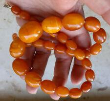 Bernstein Oliven Kette butterscotch Amber neclage olives 39 g natural