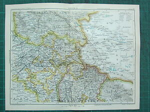 1893 INDIA EMPIRE MAP ~ INDIA SECTION IV ~ EASTERN PUNJAB & KASHMIR