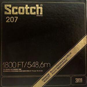 "Scotch 207 Mastering Reel to Reel Tape, LP, 7"" Reel, 1800 ft, Refurbished"