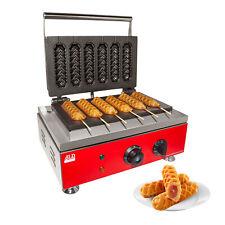 Hotdog Waffle Maker | Waffle Iron for Corn Dogs | 6 Waffles on a Stick