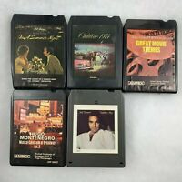 Lot of 5 Vintage 8 Track Tapes Neil Diamond Cadillac 1974 Hugo Montenegro