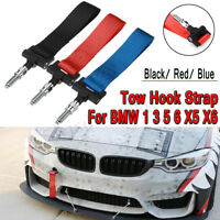 Front Racing Car Tow Towing Strap Bumper Hook Up To 2 Tons For BMW 1 3 5