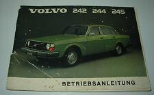 Betriebsanleitung Volvo 242 / 244 / 245 Bedienungsanleitung Stand August 1974