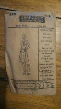 Antique SIMPLICITY PATTERN #420, Girl's Dress, Size 8