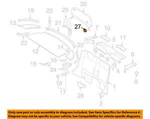 MERCEDES OEM 05-16 SLK350 Top Well-Rear Body & Floor-Knob 0009884380