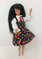 Teacher Barbie 1995 Vintage Brunette Doll w/ Clothes Only