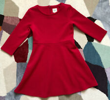 Yumi Girl Red Long Sleeve Dress, Age 9/10 (140 Cm), Very Good Condition