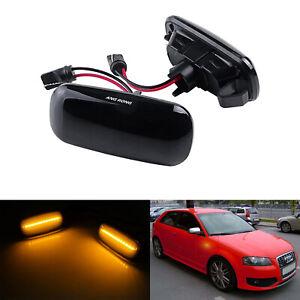 Pour Audi A3 8P A4 S4 A6 S6 A8 S8 Ambre LED Clignotant Répétiteur Latéraux Lampe