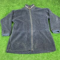 Vintage Columbia USA Made Size Large Women's Deep Pile Fuzzy Jacket Sherpa Blue