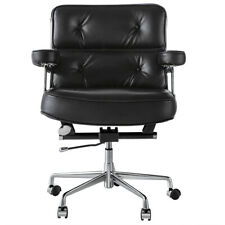 Adjustable Eams Office Chair Ergonomic Swivel Computer Desk Chair Real Leather