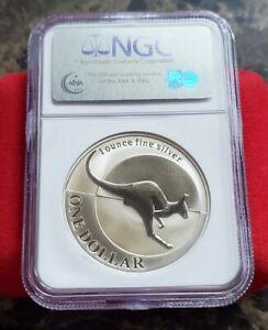 2004 Australia Kangaroo- 1 troy .999 fine Silver Coin - NGC MS 69 Brown Label
