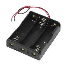 Series 3.7V Flat Tip Battery Holder Case for 3 x 18650 Batteries A6X2
