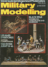 MILITARY MODELINGE MARCH 1983 MODERN U.S CAMOUFLAGE ANS MARKINS / THE SWISS ARMY